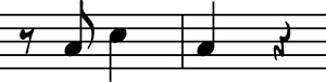 Redman's opening motif for his solo